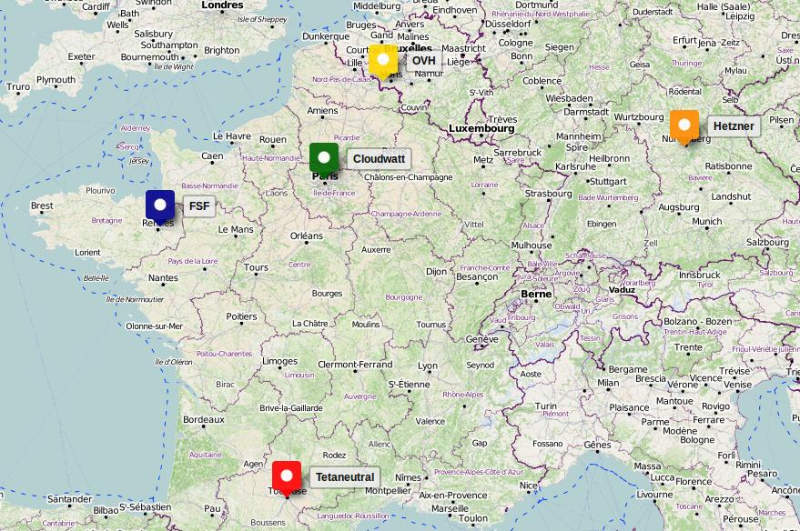 Non profit OpenStack & Ceph cluster distributed over five